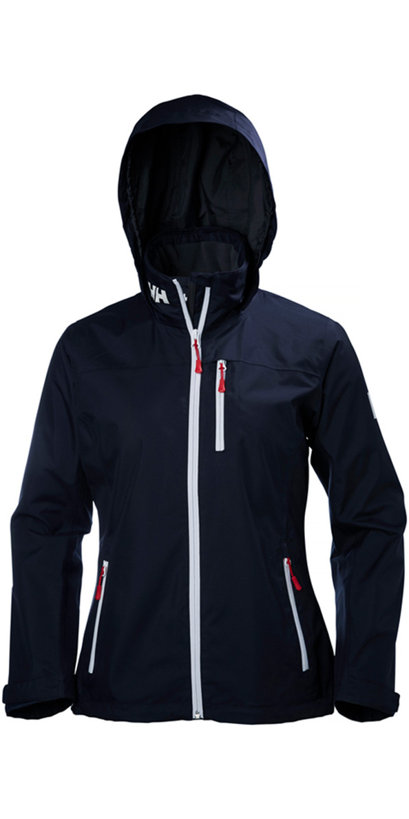 2019 Helly Hansen Womens Hooded Crew Mid Layer Jacket NAVY 33891