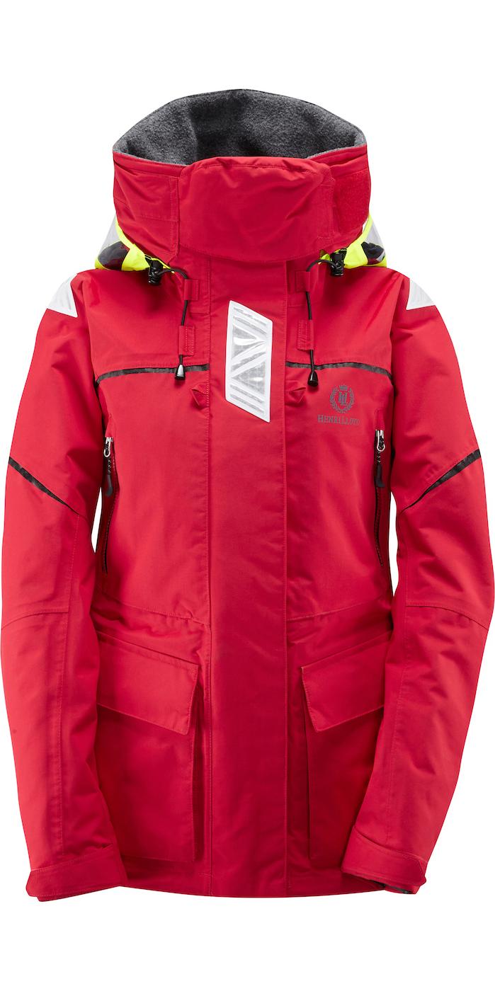 2019 Henri Lloyd Womens Freedom Offshore Jacket New Red Y00352