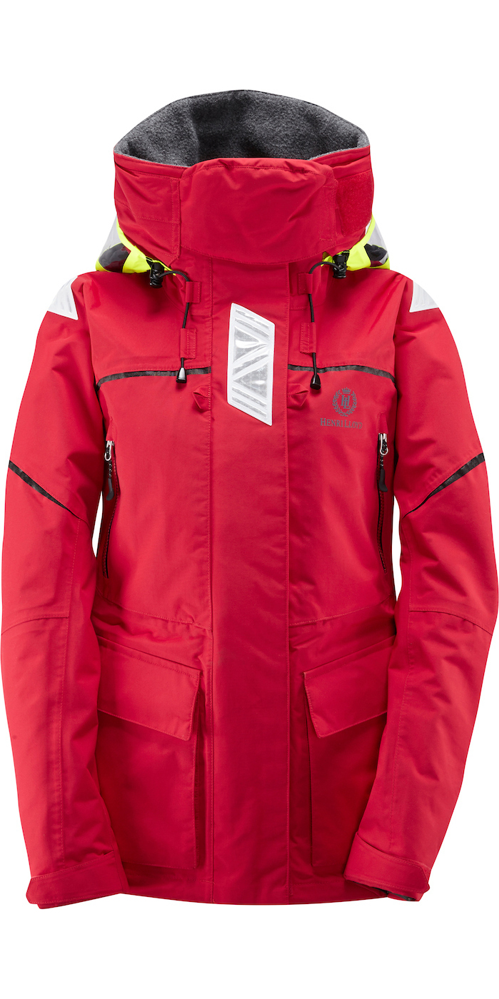 2018 Henri Lloyd Ladies Freedom Offshore Jacket New Red Y00352