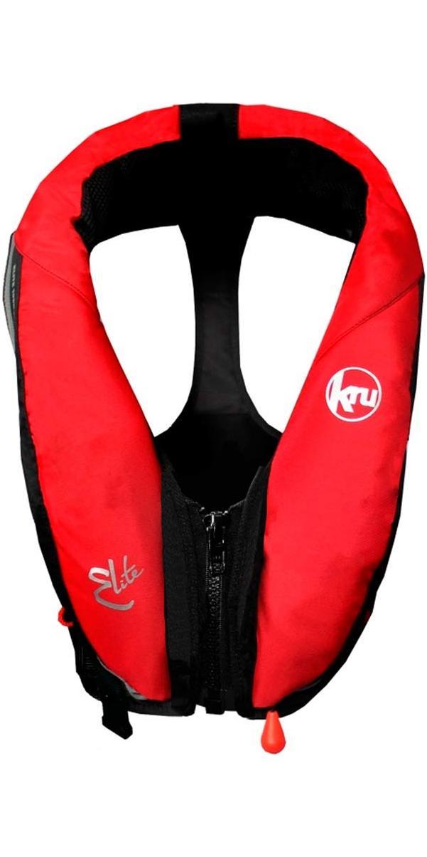 2017 Kru Elite 195N Automatic Lifejacket  + Hood - Red LIF7433