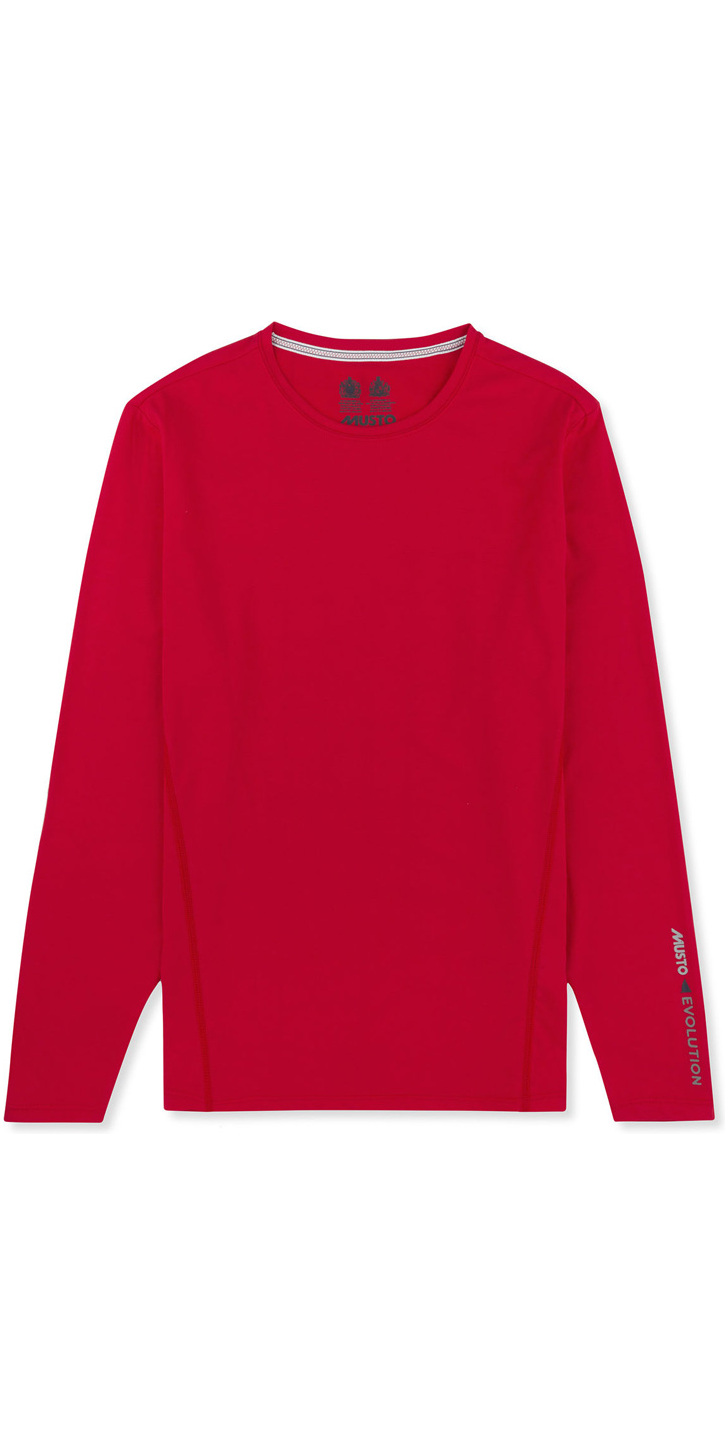2017 Musto Evolution Sunblock Long Sleeve T Shirt True Red