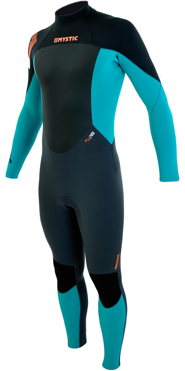 Mystic Star 3/2mm GBS Sealed Seam Back Zip Wetsuit Orange 140140
