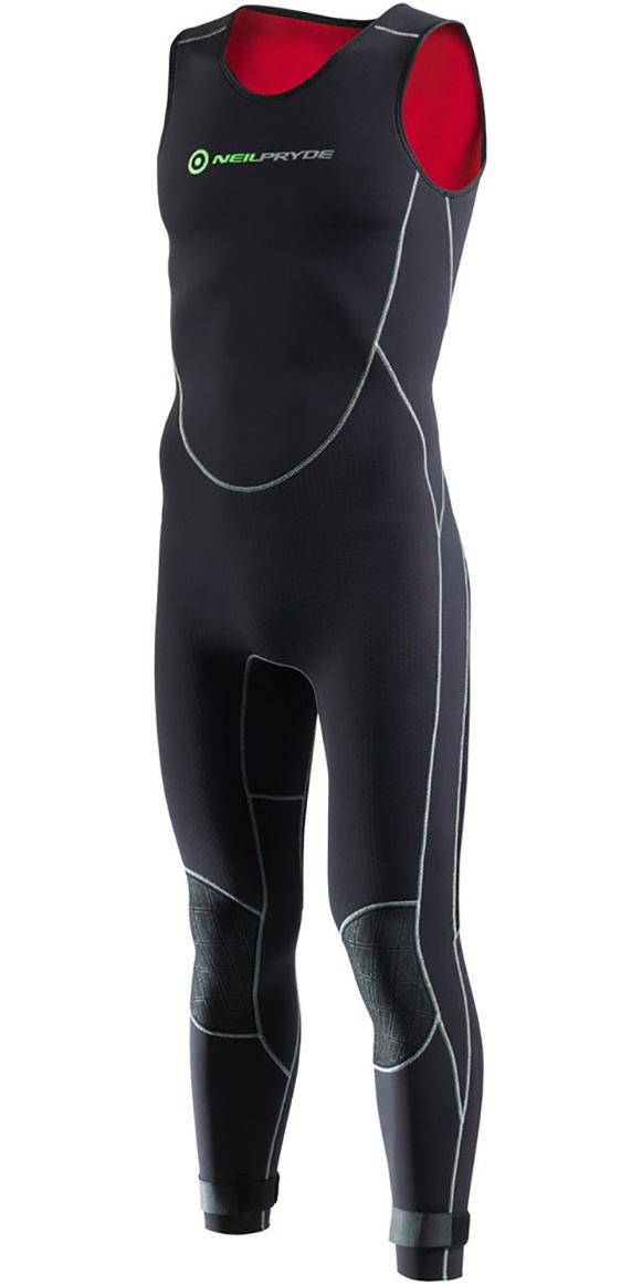 2018 Neil Pryde Junior Elite Firewire 4/3mm Long John Wetsuit Black SAB604