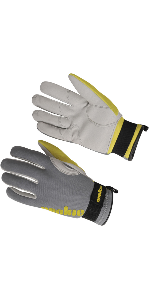 2019 Nookie Amara 2mm Neoprene Gloves GREY / YELLOW NE33