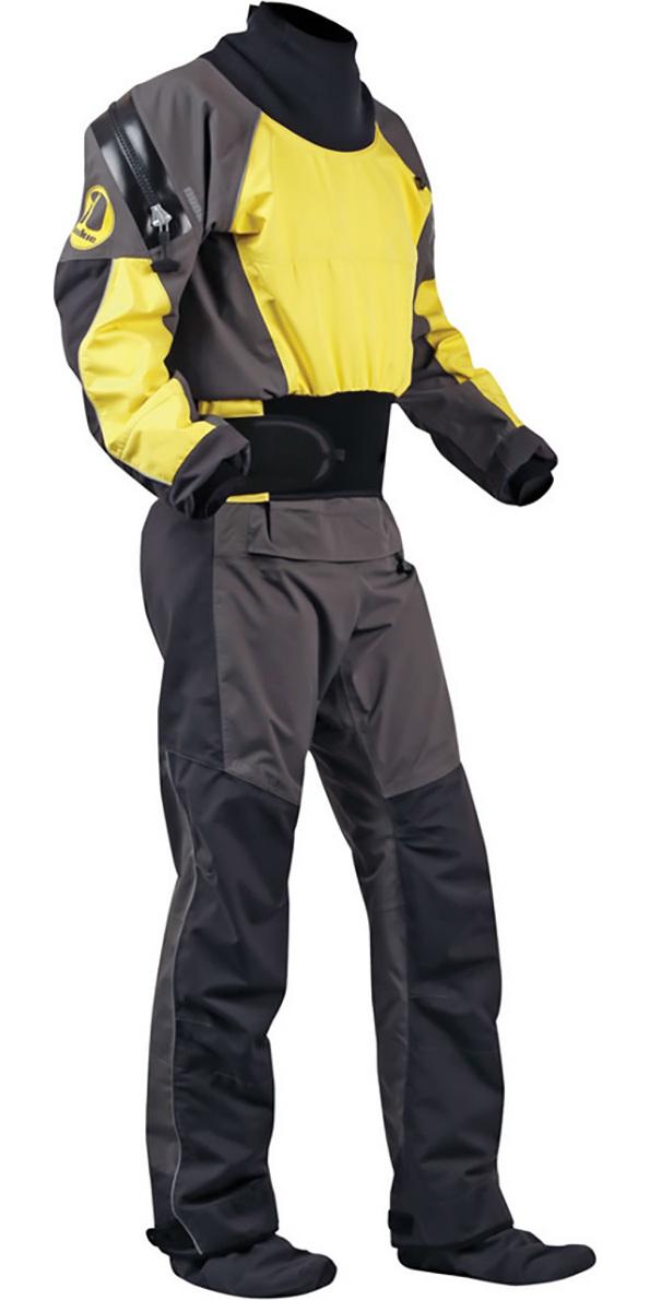 2019 Nookie Blaze Canoe / Kayak Drysuit Yellow / Charcoal  DR20