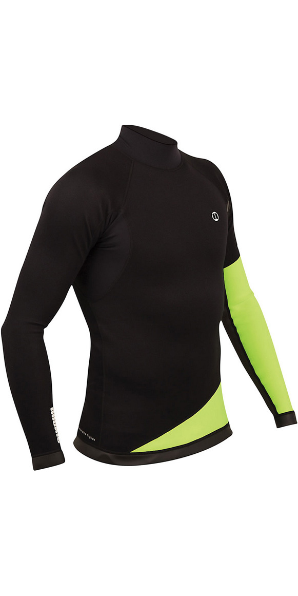2019 Nookie Ti 1mm Neoprene Long Sleeve Vest Top Black / Green NE02
