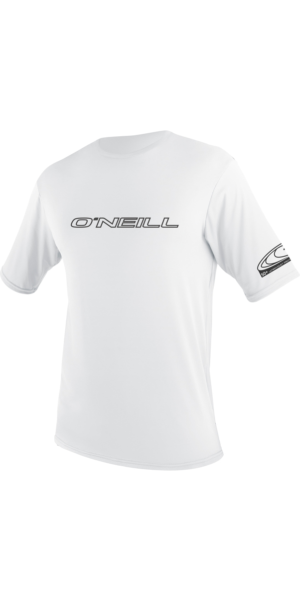 2019 O'Neill Basic Skins Short Sleeve Rash Tee WHITE 3402