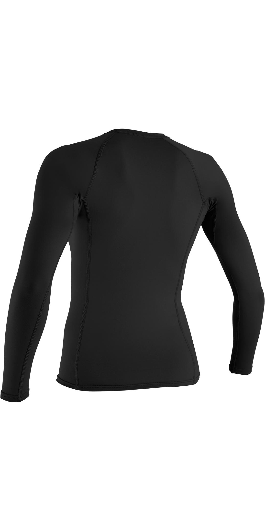 2019 Oneill Womens Basic Skins Long Sleeve Crew Rash Vest Black 3549 ... ac2ce815d