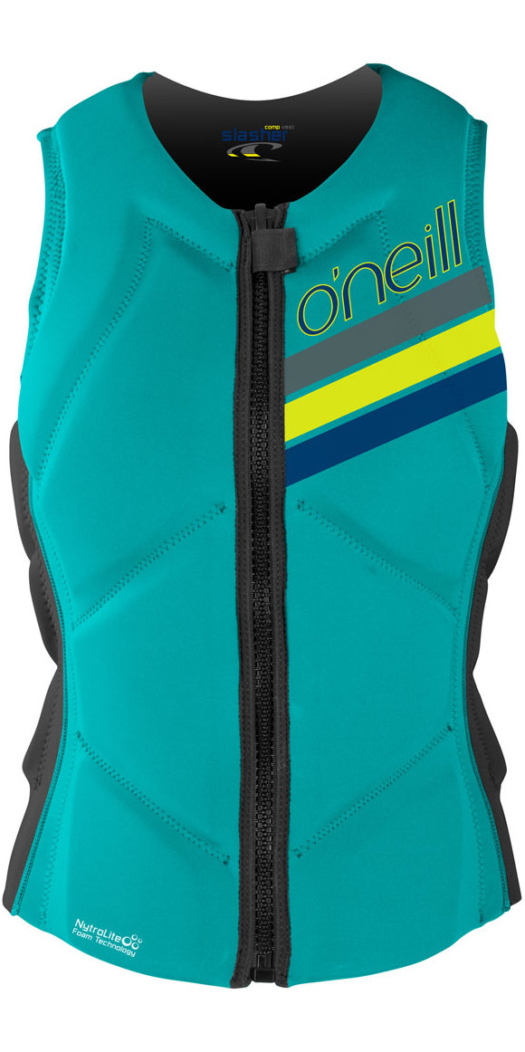 O'Neill Womens Slasher Comp Impact Vest LIGHT AQUA / GRAPHITE 4938EU
