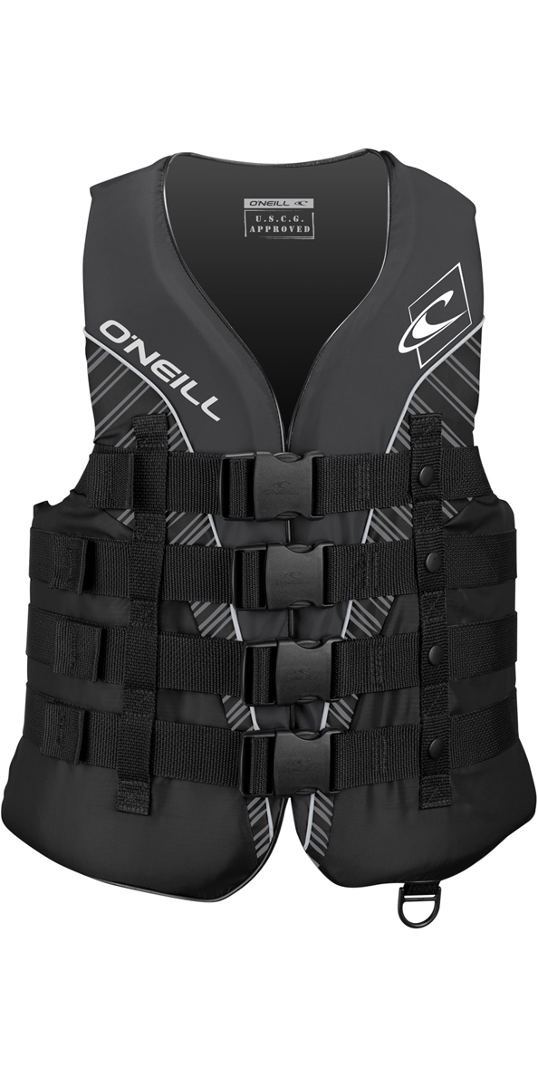 2019 O'Neill Superlite 50N CE Impact Vest BLACK / SMOKE / WHITE 4723
