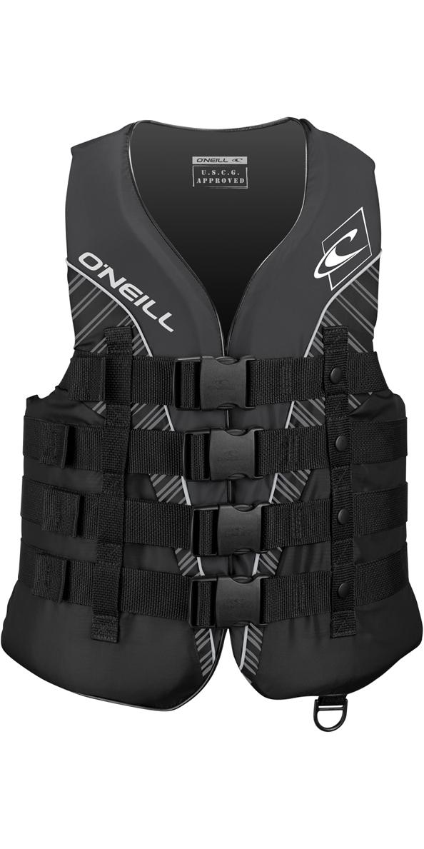 2019 O'Neill Superlite 50N CE Impact Vest BLACK / SMOKE / WHITE 4723
