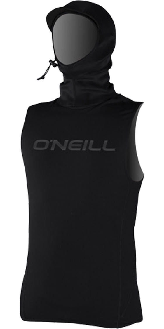 2020 O'Neill Thermo-X Hooded Thermal Vest BLACK 5023