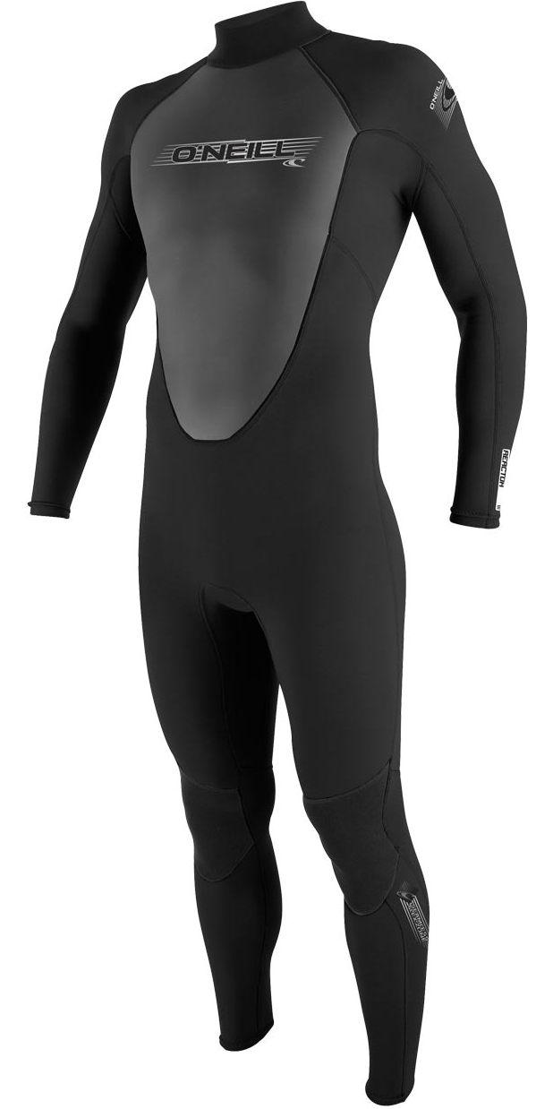 2017 O'Neill Youth Reactor 3/2mm Back Zip Flatlock Wetsuit BLACK 3802