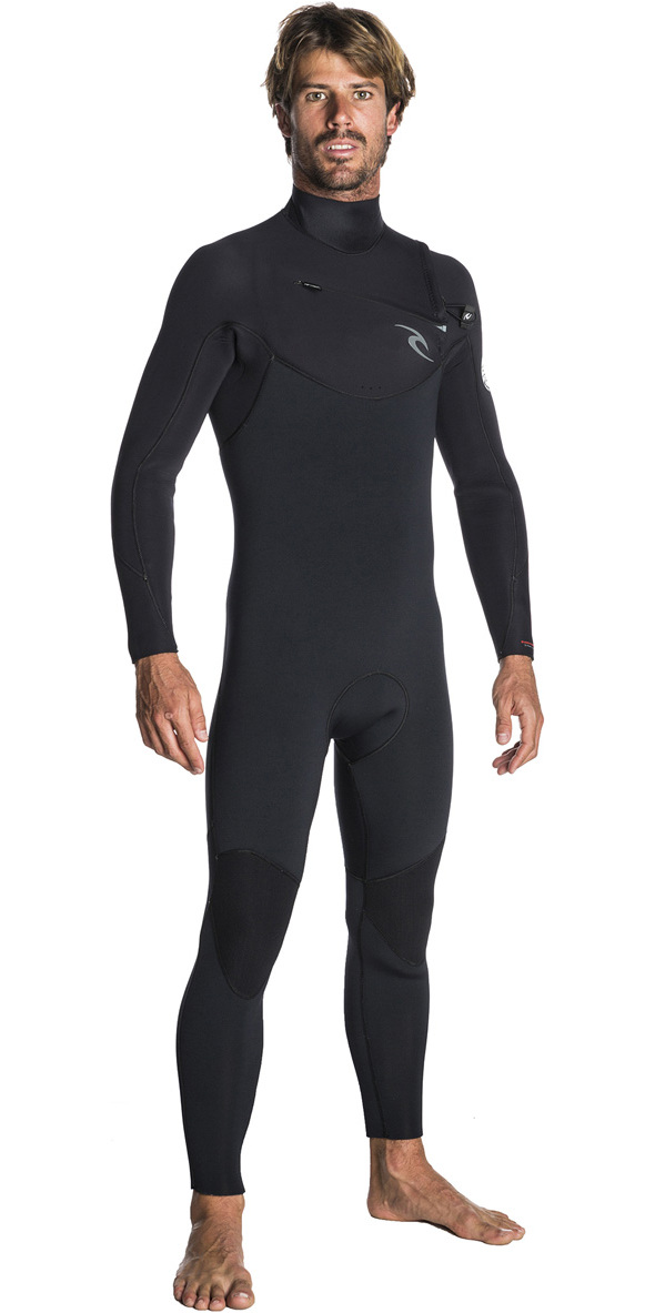 2019 Rip Curl Dawn Patrol 5/3mm Chest Zip Wetsuit BLACK WSM7GM