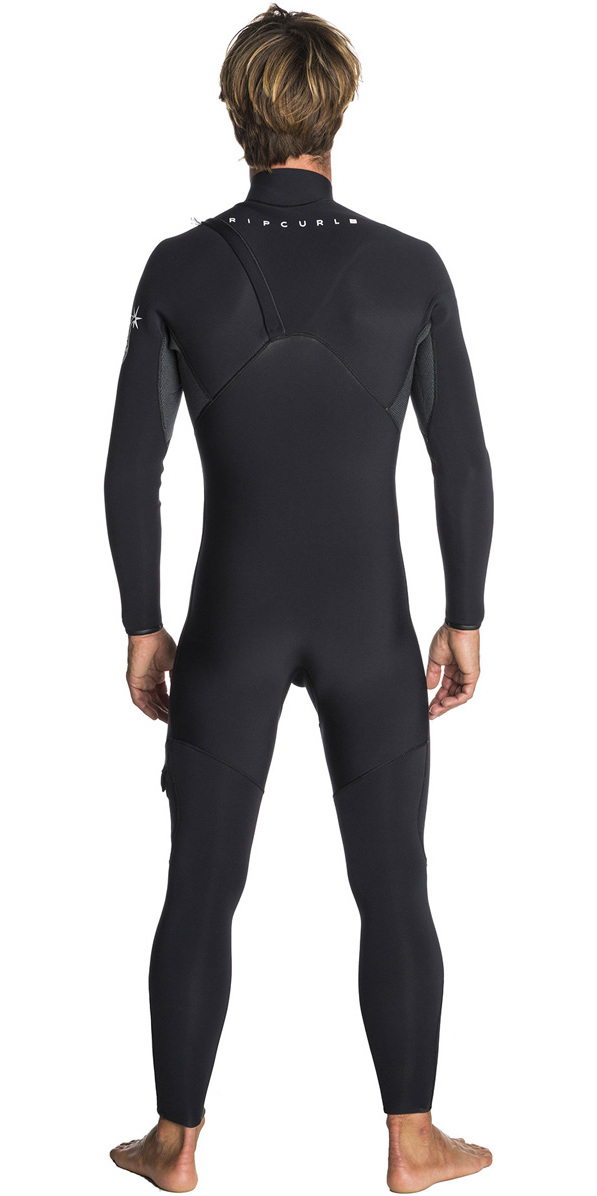 2018 Rip Curl Flashbomb 4/3mm Zip Free Wetsuit BLACK WSM7SF