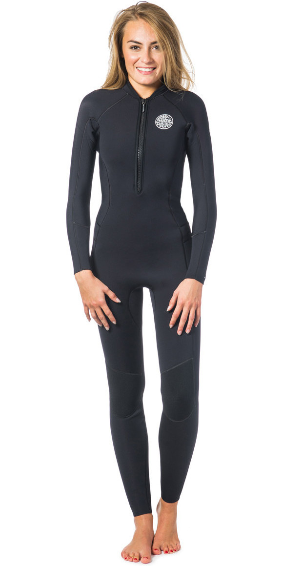 3a84059f22 Rip Curl Ladies G-Bomb 2mm Front Zip Wetsuit Black WSM6HW