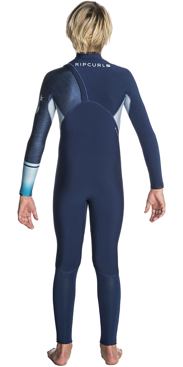 Rip Curl Junior Flashbomb 4/3mm Zip Free Wetsuit NAVY WSM7MS
