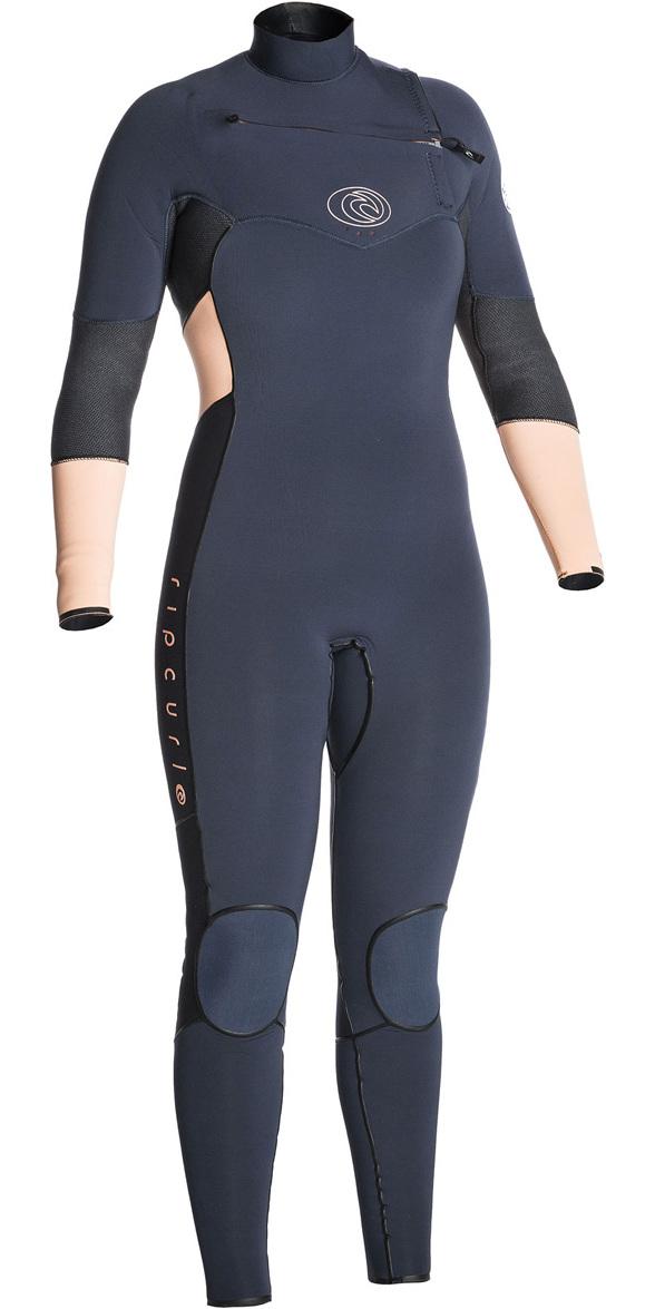 2017/18 Rip Curl Ladies Flashbomb 5/3mm GBS Chest Zip Wetsuit PEACH WSM7GG