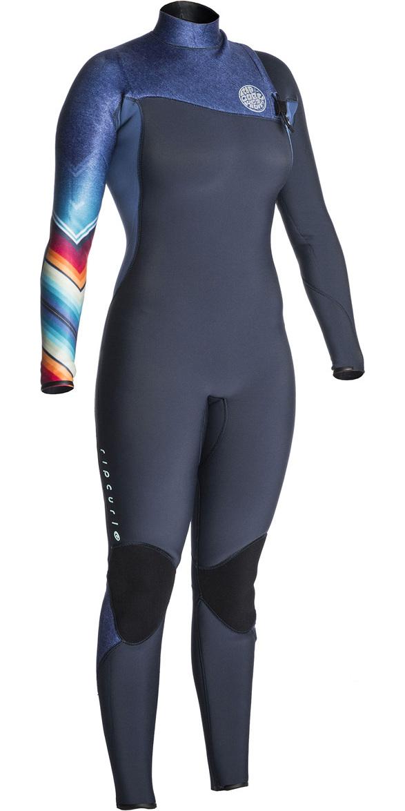Rip Curl Womens G-Bomb 3/2mm GBS Zip Free Wetsuit DENIM BLUE WSM7KG