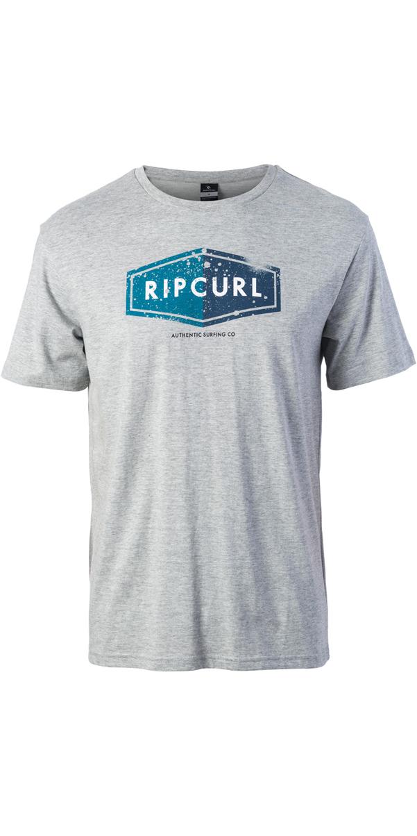 2017 Rip Curl Losange Logo Tee Cement Marle Cteum4 ...