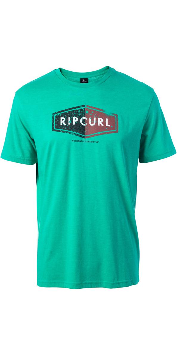 2017 Rip Curl Losange Logo Tee Deep Green Marle Cteum4 ...