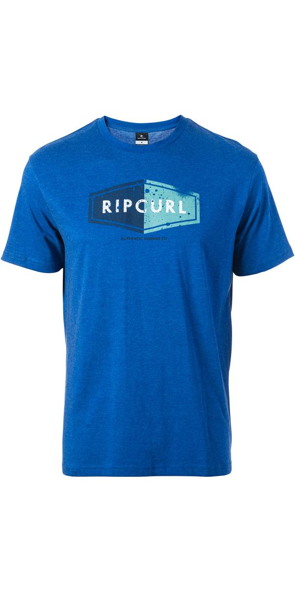 2017 Rip Curl Losange Logo Tee True Blue Marle Cteum4 ...