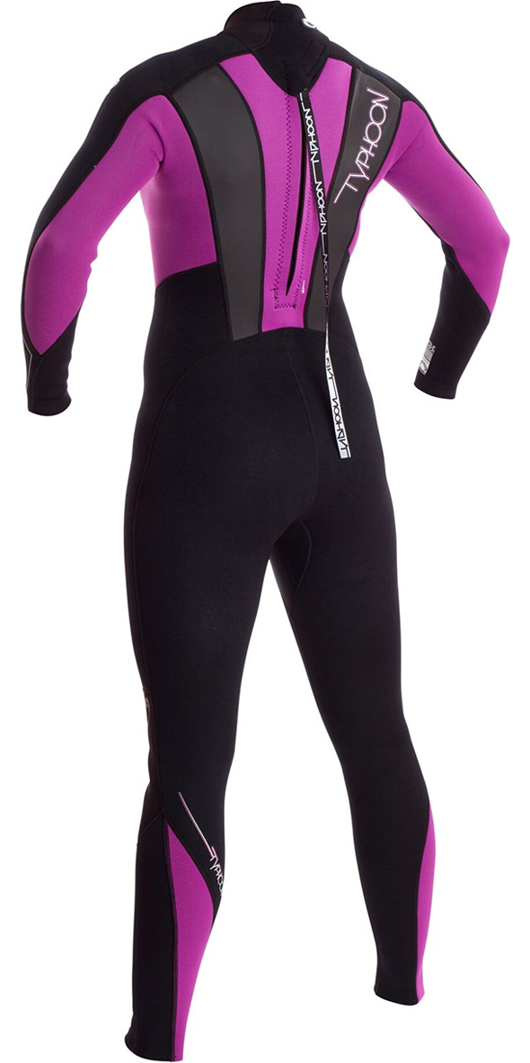 2018 Typhoon Junior Girls Storm 3/2mm Wetsuit Black / Iris 250942