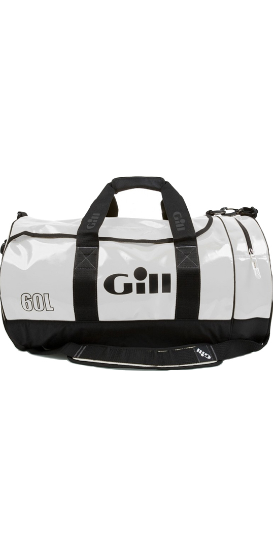 2018 Gill 60L Tarp Barrel Bag WHITE L061