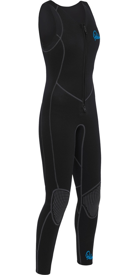 1d879dedd5 2019 Palm Womens Quantum 3mm Neoprene Front Zip Long John Black 12236 -  Womens - 3mm Wetsuits