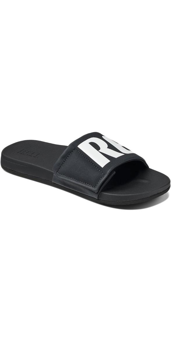 da96efb830a0 2018 Reef Mens Cushion Bounce Slide Flip Flops Black White Rf0a3ol5bio -  Flip Flops