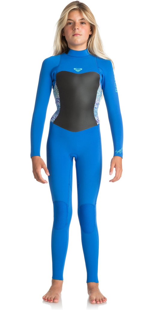 2018 Roxy Junior Girls Syncro Series 3 2mm GBS Back Zip Wetsuit SEA BLUE II  ... 97e5b42b5