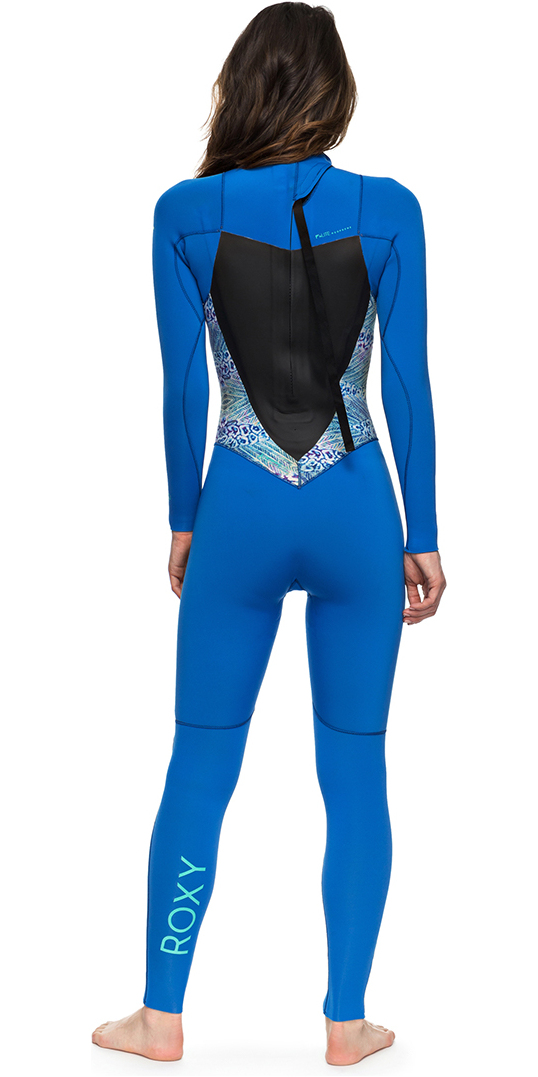 2018 Roxy Womens Syncro Series 4/3mm GBS Back Zip Wetsuit BLUE ERJW103027