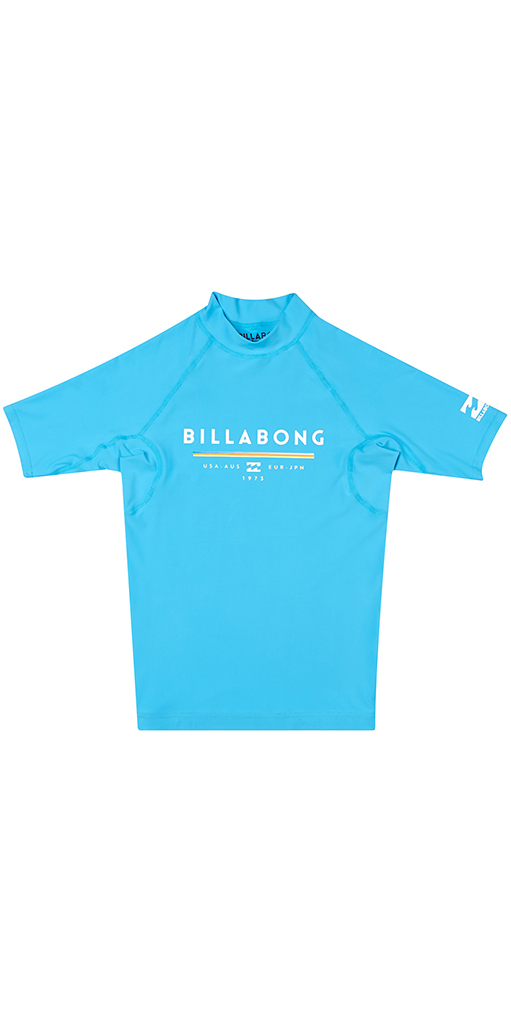 Billabong Junior Unity Short Sleeve Rash Vest OCEAN H4KY01