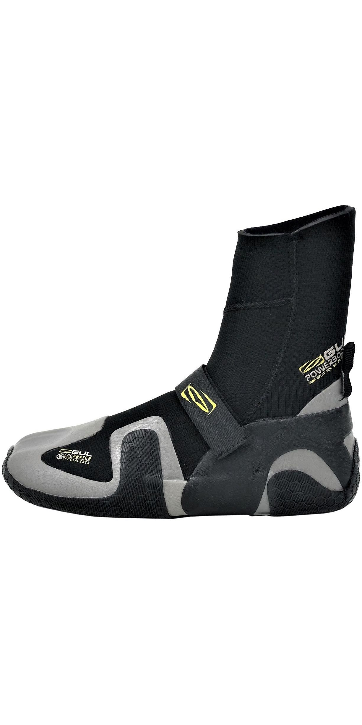 2019 Gul Power 5mm Split Toe Wetsuit Boot Black / grey BO1309-B4