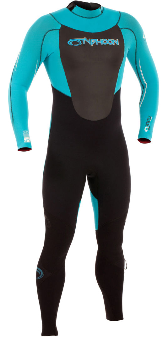 2019 Typhoon Vortex GBS 3/2mm Back Zip Wetsuit BLACK / PRO BLUE 250750