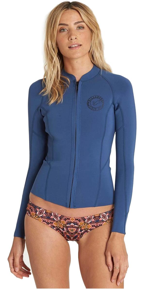 2018 Billabong Womens Peeky 1mm Neoprene Jacket Seaside H41g02 - Womens Neoprene  Tops  748b72232