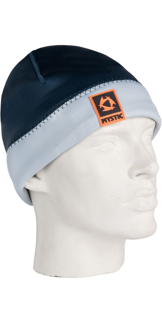 2018 Mystic 2mm Neoprene Beanie Navy / GREY 180038