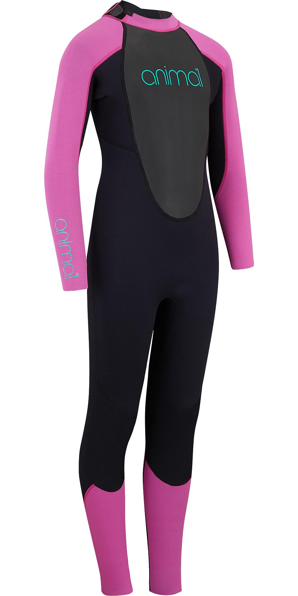 Roxy Girls 3//2mm Prolog Back Zip Full Length Wetsuit Black ERGW103023