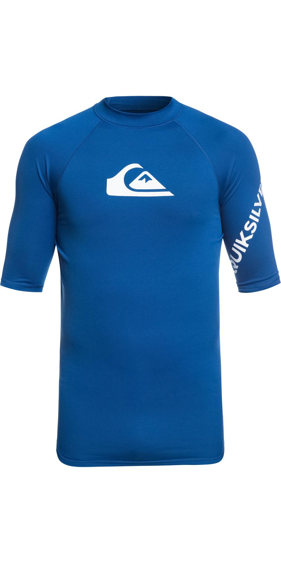 6fdf168409fdd 2019 Quiksilver All Time Short Sleeve Rash Vest Electric Royal Blue  Eqywr03136 - Short | Wetsuit Outlet