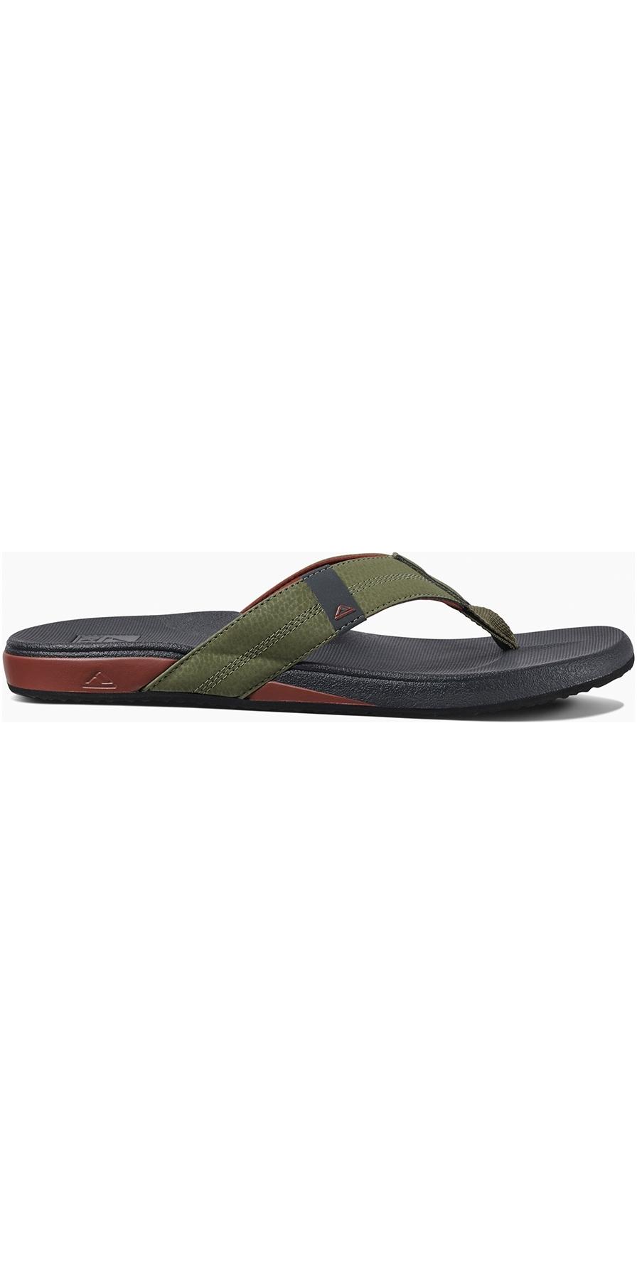2019 Reef Mens Cushion Bounce Phantom Sandals Flip Flops Olive Red Rf0a3fdi