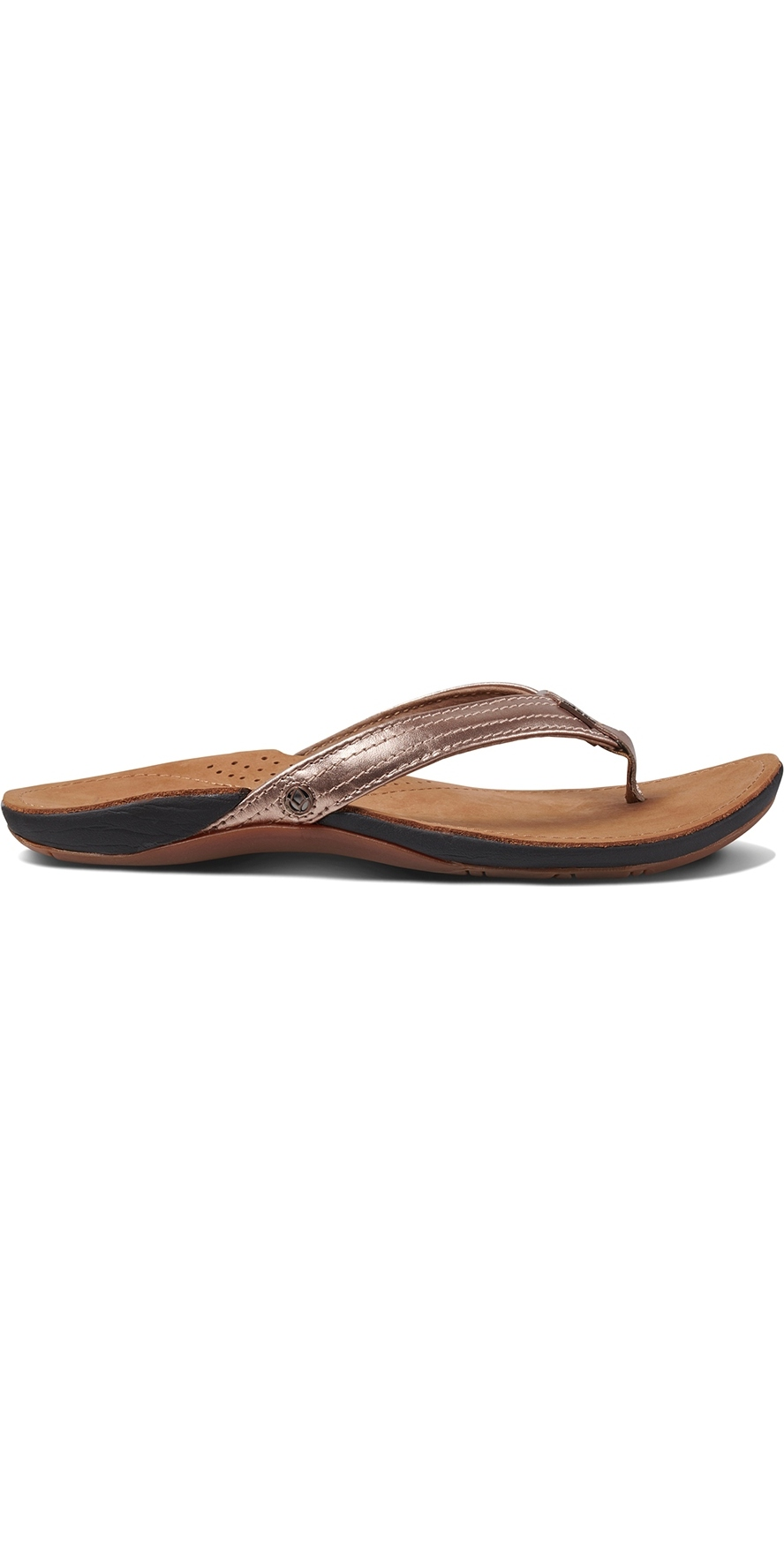 e54fd8f8b680 Reef Womens Miss J-Bay Flip Flops Rose Gold RF001241