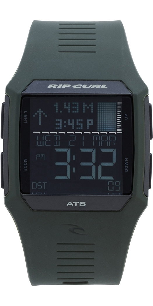f2d9113a8819 2019 Rip Curl Rifles Tide Surf Watch in Military Green A1119 - Mens -  Watches - by Rip Curl   Wetsuit Outlet