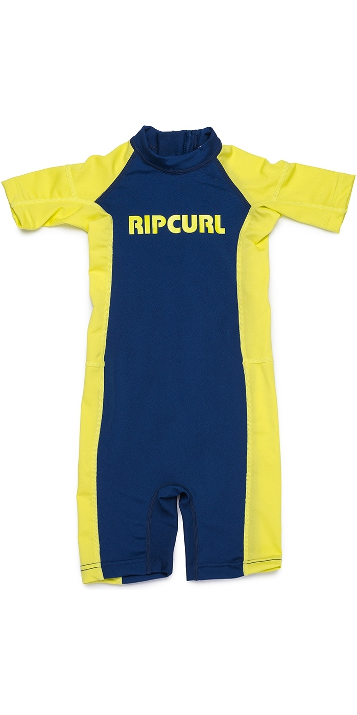 Rip Curl Toddlers Short Sleeve UV Spring Suit Lime WLY8EO
