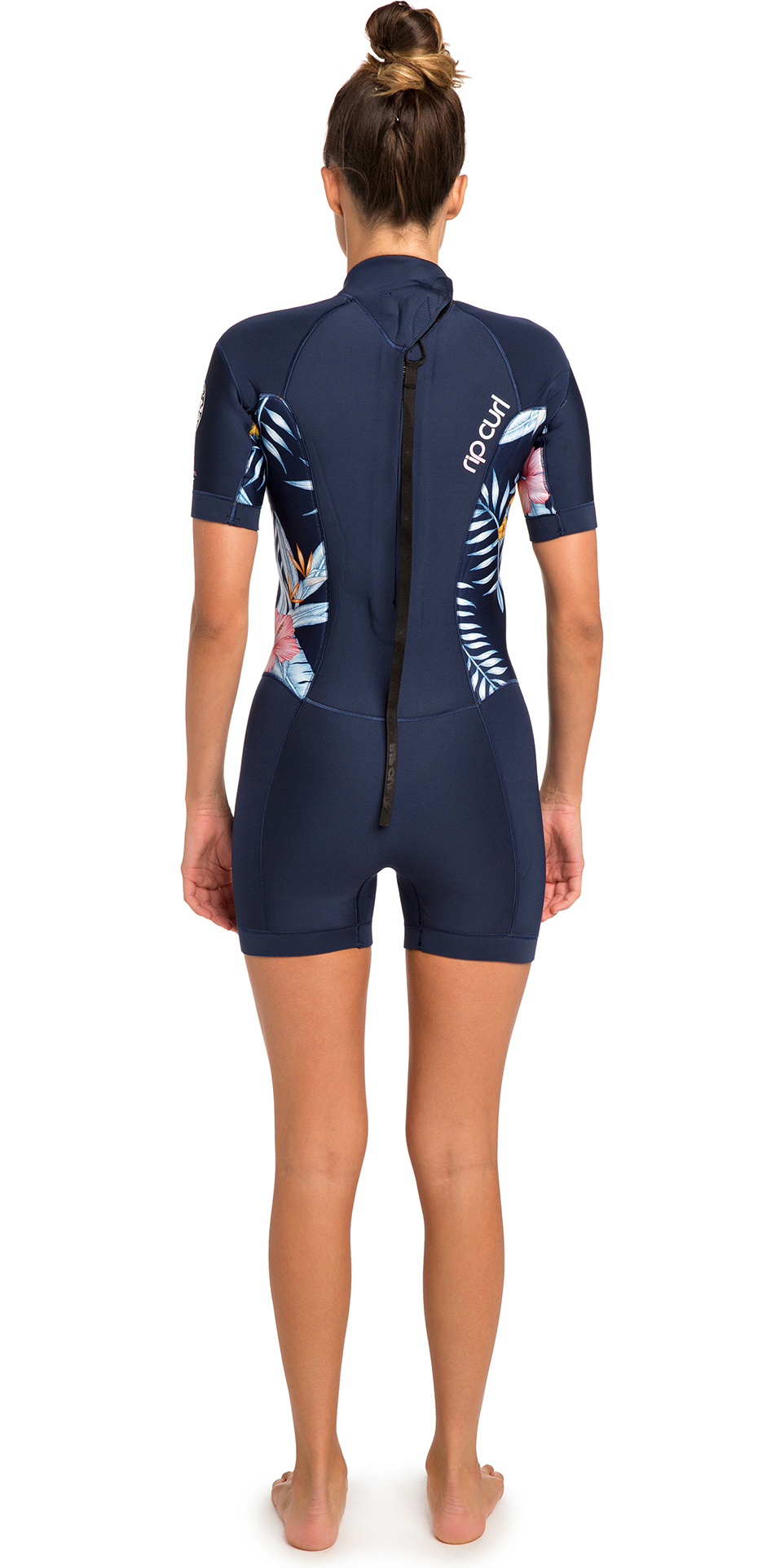 81ef81fd14 2019 Rip Curl Womens Dawn Patrol 2mm Back Zip Shorty Wetsuit Navy WSP8FW ...