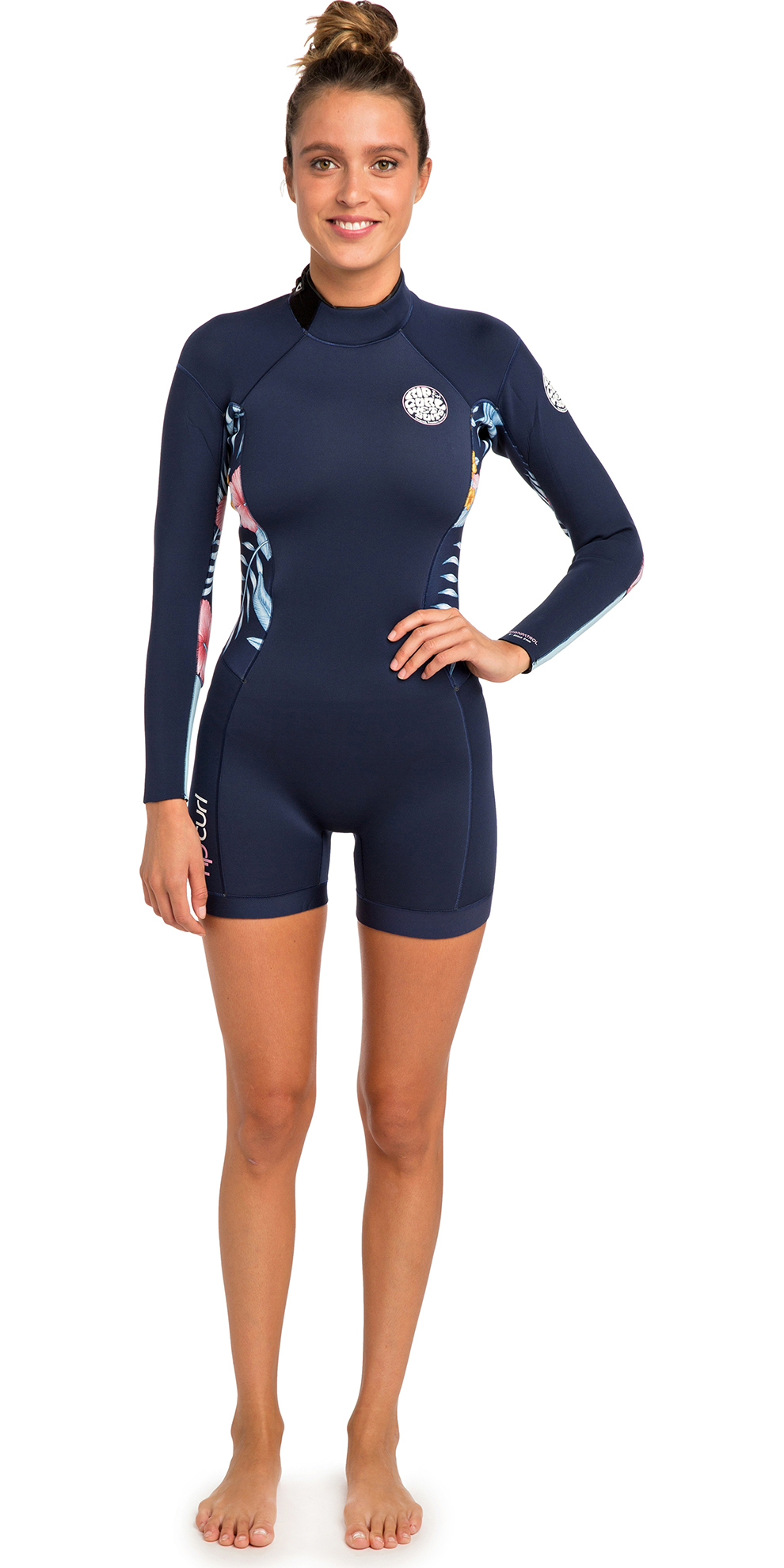 ba65bc0631 2019 Rip Curl Womens Dawn Patrol 2mm Long Sleeve Shorty Wetsuit Navy Wsp8gw  - Womens - Shorty