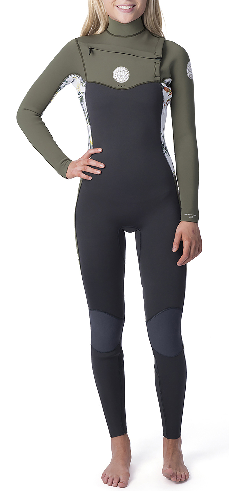 Light Flexible and Durable Construction for Watersports BILLABONG Ladies Synergy 5//4mm Back Zip Wetsuit in Black Sands
