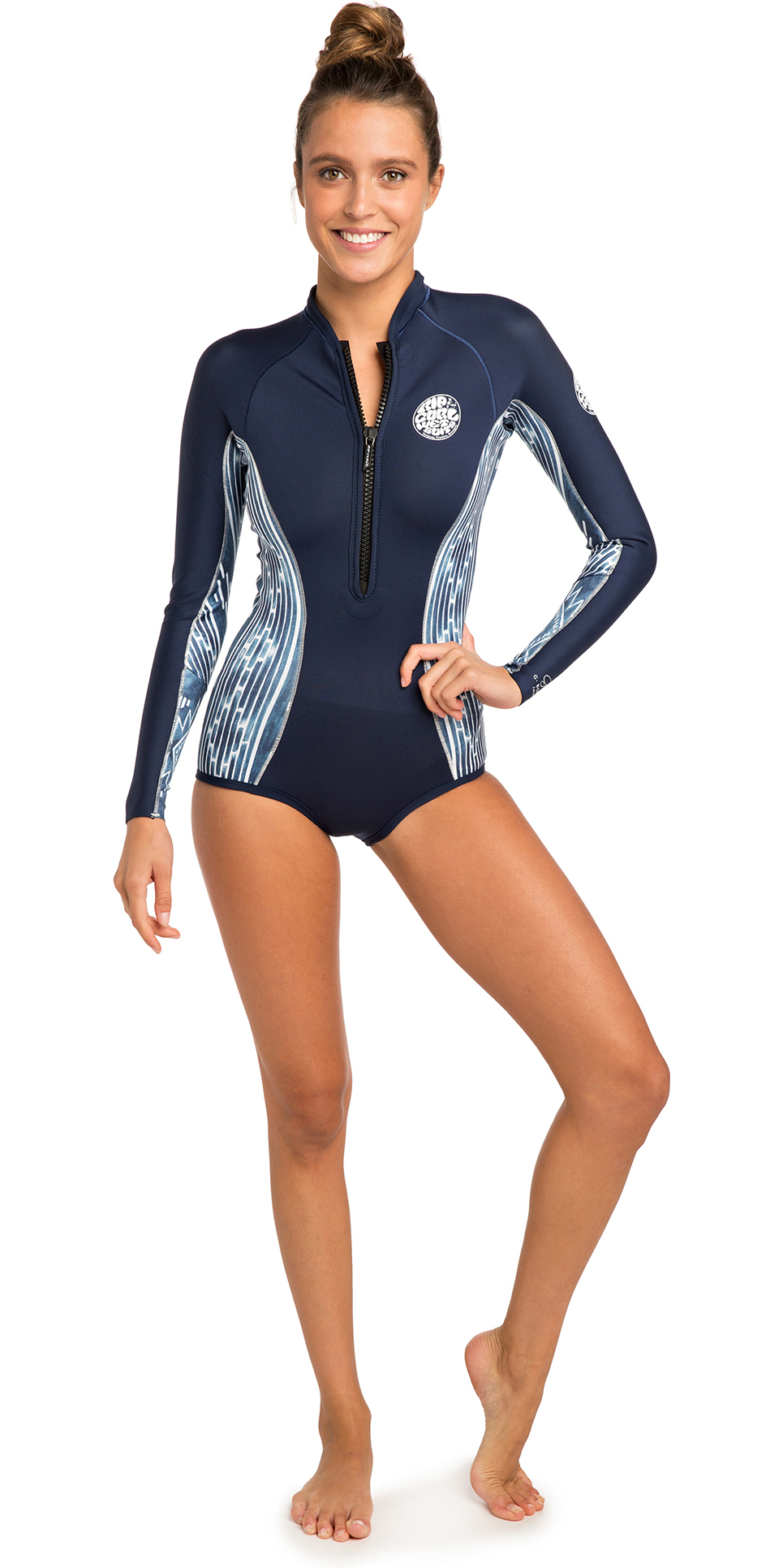 50416645eb76 2019 Rip Curl Womens G-bomb 1mm Long Sleeve Shorty Wetsuit Blue White  Wsp7lw - Womens | Wetsuit Outlet