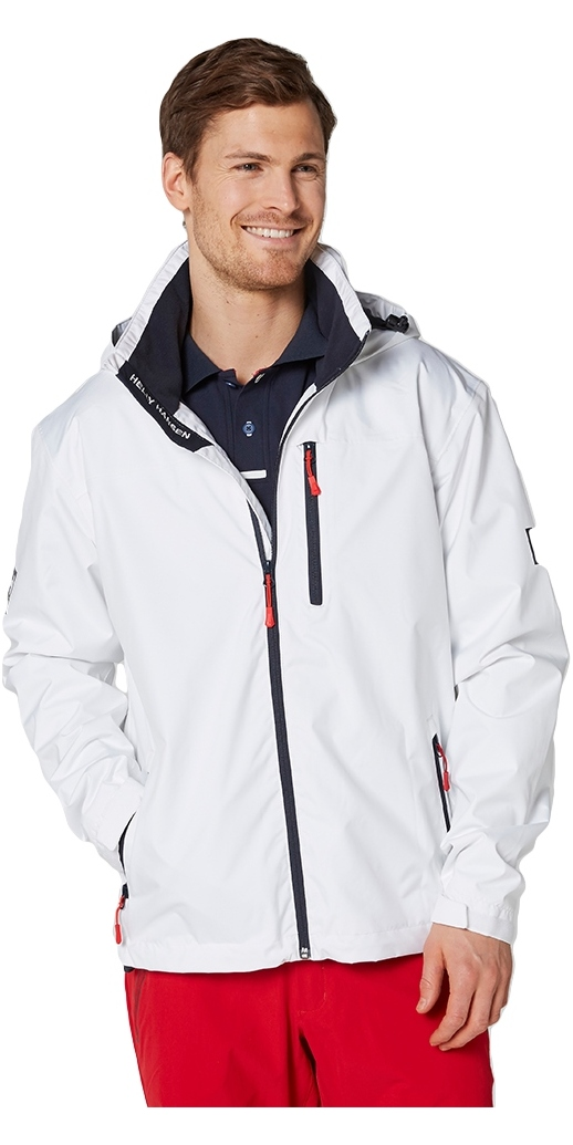 2019 Helly Hansen Hooded Crew Mid Layer Jacket WHITE 33874