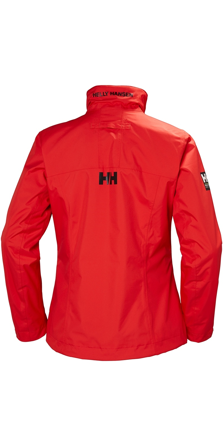 2019 Helly Hansen Womens Mid Layer Crew Jacket Alert Red 30317