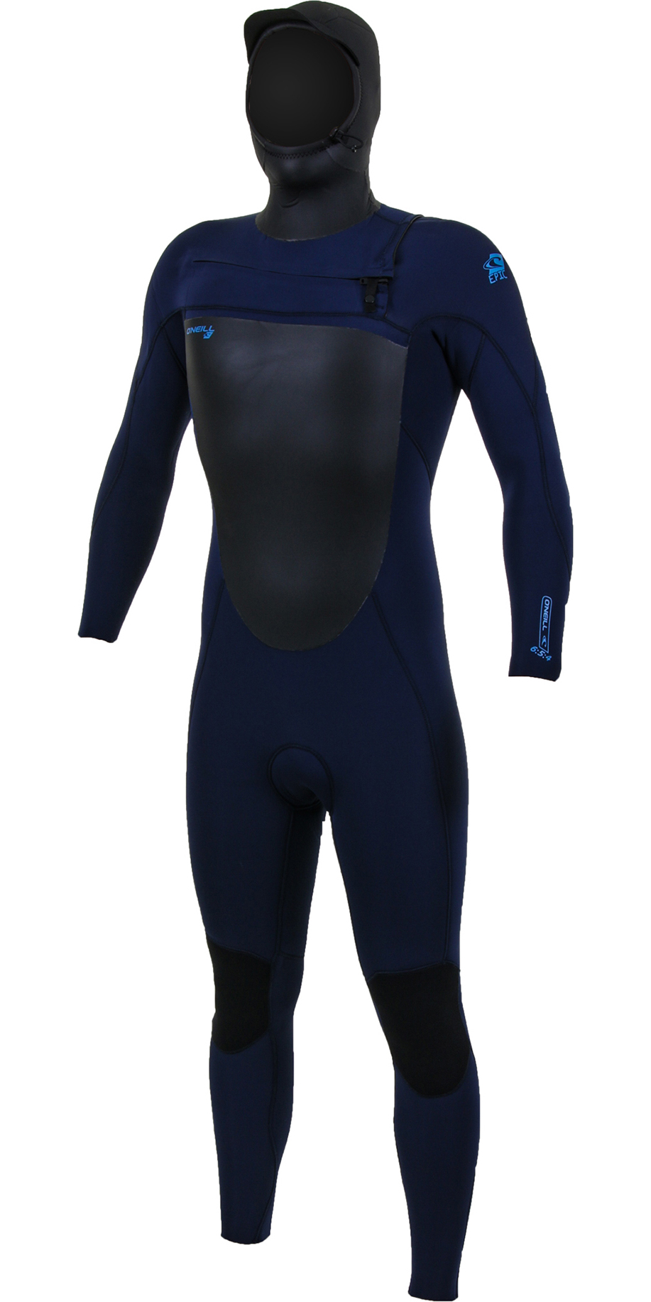 2019 O'Neill Mens Epic 6/5/4mm Chest Zip Hooded Wetsuit Navy 5377